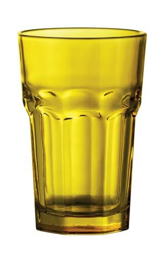 Kisla skleničky na pití Žlutá