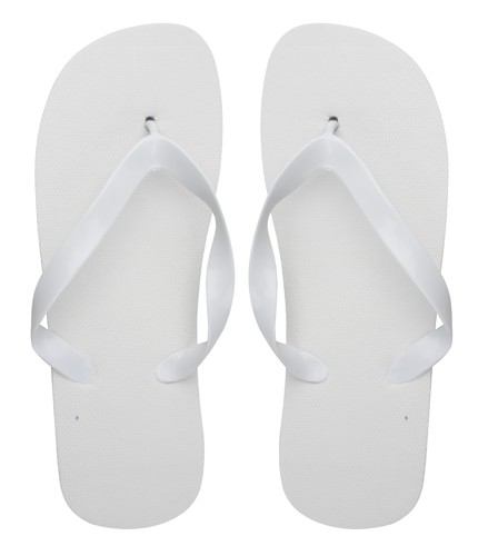 Sunset plážové pantofle Bílá