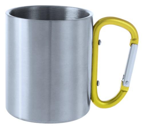 Bastic kovový hrnek Žlutá