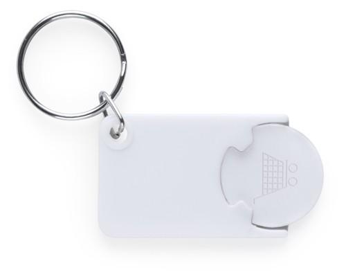 Zabax přívěšek na klíče se žetonem Bílá