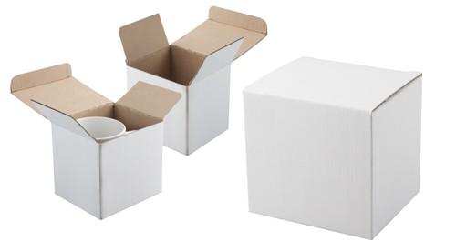 Three krabička na hrnky Bílá