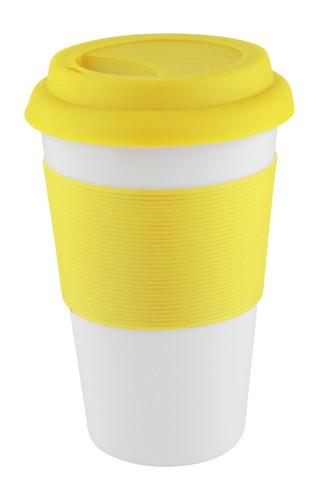 Soft Touch hrnek se silikonem Žlutá