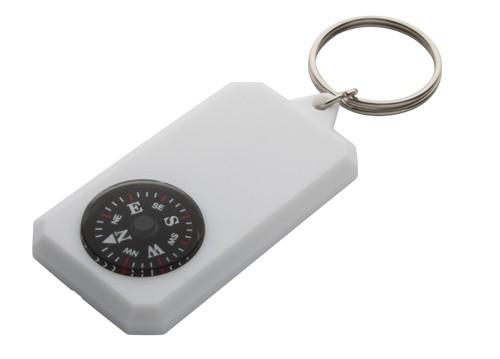 Magellan přívěšek na klíče s kompasem Bílá