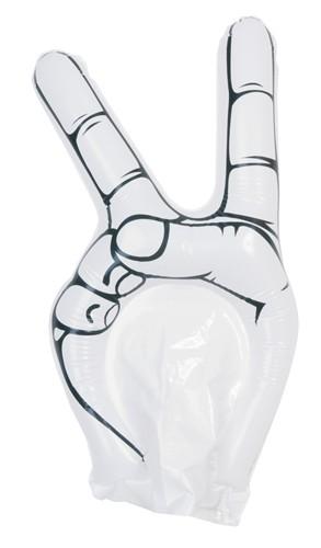 Hogan fandící ruka Bílá