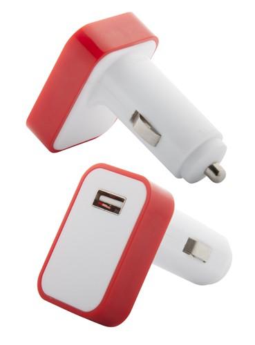 Waze USB nabíječka do auta Červená
