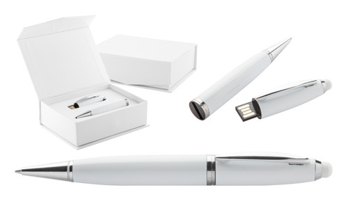 Sivart 8GB USB pero Bílá