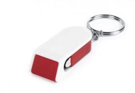 Satari stojánek na mobil s klíčenkou Červená