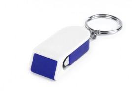 Satari stojánek na mobil s klíčenkou Modrá