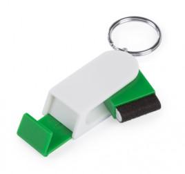 Satari stojánek na mobil s klíčenkou Zelená