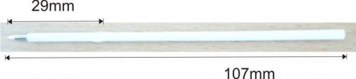 Náplň X20, 107mm bílá - 0,7mm Modrá