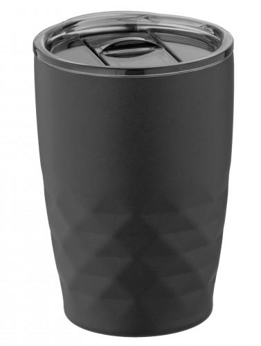 GEOM, termohrnek s dvojitou stěnou, 350 ml Černá