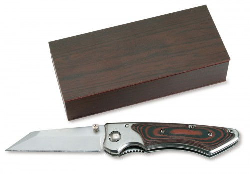HANTE, lovecký nůž s pojistkou a klipem .