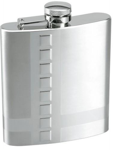 DEKOR, stříbrná butylka s dekorem, 210 ml .