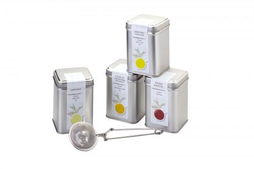 FYRA SET (4x sypaný čaj se sítkem v kazetě) .